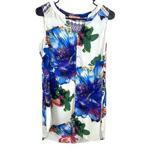 Olive Hill Button Down Summer Floral Tunic Dress